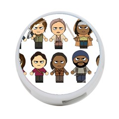 The Walking Dead   Main Characters Chibi   Amc Walking Dead   Manga Dead 4 Port Usb Hub (two Sides)  by PTsImaginarium