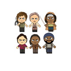 The Walking Dead   Main Characters Chibi   Amc Walking Dead   Manga Dead Shower Curtain 48  X 72  (small)  by PTsImaginarium