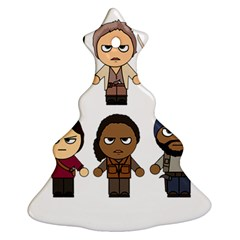 The Walking Dead   Main Characters Chibi   Amc Walking Dead   Manga Dead Christmas Tree Ornament (2 Sides) by PTsImaginarium