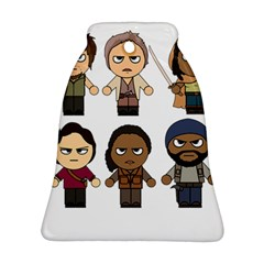The Walking Dead   Main Characters Chibi   Amc Walking Dead   Manga Dead Bell Ornament (2 Sides)