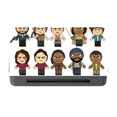 The Walking Dead   Main Characters Chibi   Amc Walking Dead   Manga Dead Memory Card Reader With Cf by PTsImaginarium