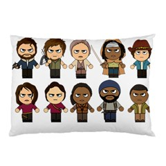 The Walking Dead   Main Characters Chibi   Amc Walking Dead   Manga Dead Pillow Case (two Sides) by PTsImaginarium