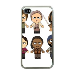 The Walking Dead   Main Characters Chibi   Amc Walking Dead   Manga Dead Apple Iphone 4 Case (clear) by PTsImaginarium