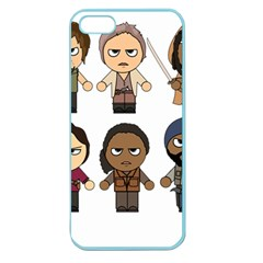 The Walking Dead   Main Characters Chibi   Amc Walking Dead   Manga Dead Apple Seamless Iphone 5 Case (color) by PTsImaginarium