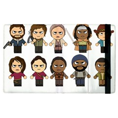 The Walking Dead   Main Characters Chibi   Amc Walking Dead   Manga Dead Apple Ipad 2 Flip Case by PTsImaginarium