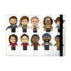 The Walking Dead   Main Characters Chibi   Amc Walking Dead   Manga Dead Apple Ipad Mini Flip Case by PTsImaginarium