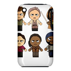 The Walking Dead   Main Characters Chibi   Amc Walking Dead   Manga Dead Apple Iphone 3g/3gs Hardshell Case (pc+silicone) by PTsImaginarium