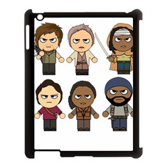 The Walking Dead   Main Characters Chibi   Amc Walking Dead   Manga Dead Apple Ipad 3/4 Case (black) by PTsImaginarium