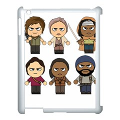 The Walking Dead   Main Characters Chibi   Amc Walking Dead   Manga Dead Apple Ipad 3/4 Case (white) by PTsImaginarium