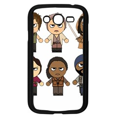 The Walking Dead   Main Characters Chibi   Amc Walking Dead   Manga Dead Samsung Galaxy Grand Duos I9082 Case (black) by PTsImaginarium