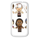 The Walking Dead   Main Characters Chibi   Amc Walking Dead   Manga Dead Samsung Galaxy S3 Back Case (White) Front