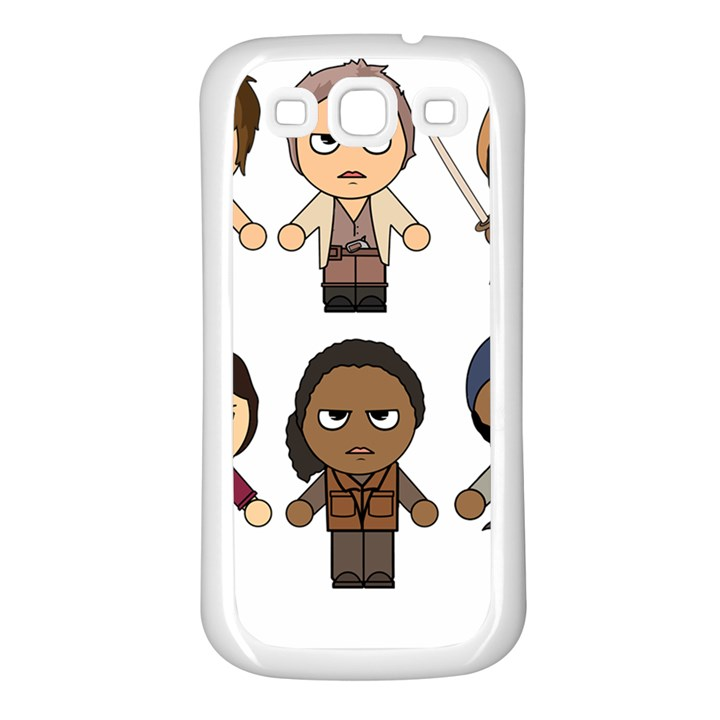 The Walking Dead   Main Characters Chibi   Amc Walking Dead   Manga Dead Samsung Galaxy S3 Back Case (White)