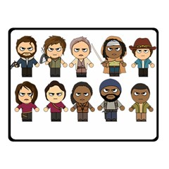 The Walking Dead   Main Characters Chibi   Amc Walking Dead   Manga Dead Double Sided Fleece Blanket (small)  by PTsImaginarium