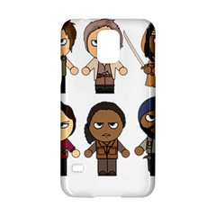 The Walking Dead   Main Characters Chibi   Amc Walking Dead   Manga Dead Samsung Galaxy S5 Hardshell Case  by PTsImaginarium
