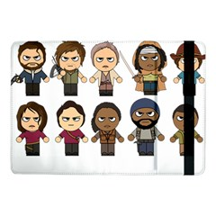 The Walking Dead   Main Characters Chibi   Amc Walking Dead   Manga Dead Samsung Galaxy Tab Pro 10 1  Flip Case by PTsImaginarium
