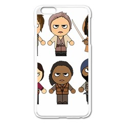 The Walking Dead   Main Characters Chibi   Amc Walking Dead   Manga Dead Apple Iphone 6 Plus/6s Plus Enamel White Case by PTsImaginarium