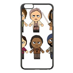 The Walking Dead   Main Characters Chibi   Amc Walking Dead   Manga Dead Apple Iphone 6 Plus/6s Plus Black Enamel Case by PTsImaginarium