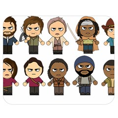 The Walking Dead   Main Characters Chibi   Amc Walking Dead   Manga Dead Double Sided Flano Blanket (medium)  by PTsImaginarium