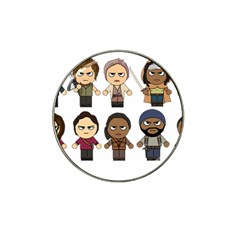 The Walking Dead   Main Characters Chibi   Amc Walking Dead   Manga Dead Hat Clip Ball Marker (4 Pack)
