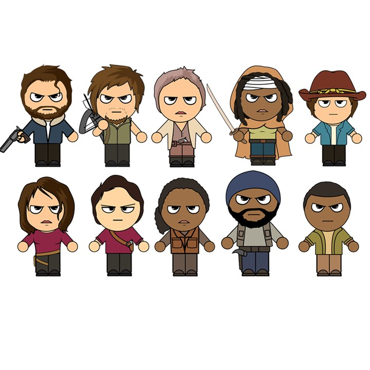 The walking dead main characters chibi amc walking dead manga dead the walking dead main characters chibi amc walking dead manga dead birthday cake 3d greeting card m4hsunfo
