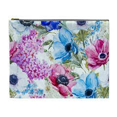Watercolor Spring Flowers Cosmetic Bag (xl)