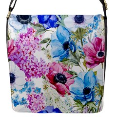 Watercolor Spring Flowers Flap Messenger Bag (s) by TastefulDesigns