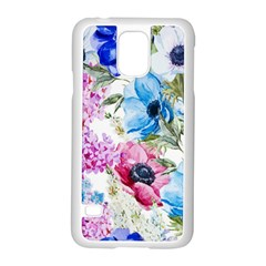 Watercolor Spring Flowers Samsung Galaxy S5 Case (white) by TastefulDesigns