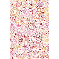 Ornamental Pattern With Hearts And Flowers  5 5  X 8 5  Notebooks by TastefulDesigns