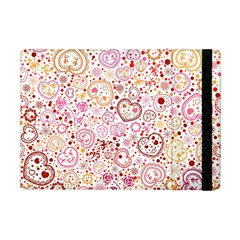Ornamental Pattern With Hearts And Flowers  Apple Ipad Mini Flip Case by TastefulDesigns