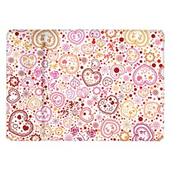Ornamental Pattern With Hearts And Flowers  Samsung Galaxy Tab 10 1  P7500 Flip Case by TastefulDesigns