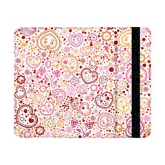 Ornamental Pattern With Hearts And Flowers  Samsung Galaxy Tab Pro 8 4  Flip Case by TastefulDesigns