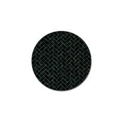 Brick2 Black Marble & Green Marble Golf Ball Marker (4 Pack) by trendistuff