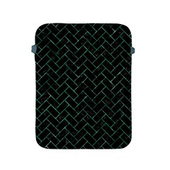 Brick2 Black Marble & Green Marble Apple Ipad 2/3/4 Protective Soft Case by trendistuff