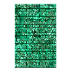 Brick1 Black Marble & Green Marble (r) Shower Curtain 48  X 72  (small)