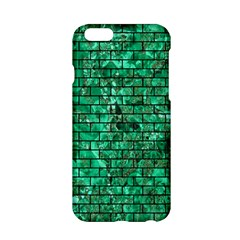 Brick1 Black Marble & Green Marble (r) Apple Iphone 6/6s Hardshell Case by trendistuff
