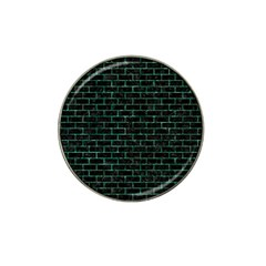 Brick1 Black Marble & Green Marble Hat Clip Ball Marker by trendistuff