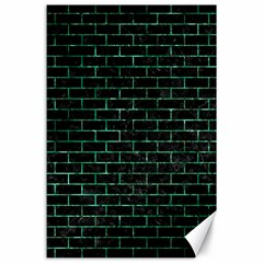 Brick1 Black Marble & Green Marble Canvas 24  X 36  by trendistuff
