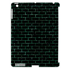 Brick1 Black Marble & Green Marble Apple Ipad 3/4 Hardshell Case (compatible With Smart Cover) by trendistuff