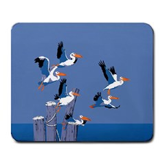 Abstract Pelicans Seascape Tropical Pop Art Large Mousepads by WaltCurleeArt