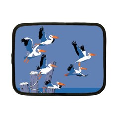 Abstract Pelicans Seascape Tropical Pop Art Netbook Case (small)  by WaltCurleeArt