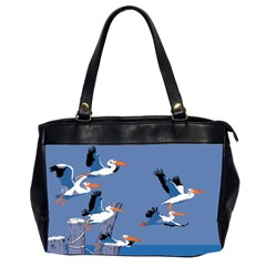 Abstract Pelicans Seascape Tropical Pop Art Office Handbags (2 Sides)  by WaltCurleeArt