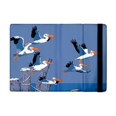 Abstract Pelicans Seascape Tropical Pop Art Ipad Mini 2 Flip Cases by WaltCurleeArt