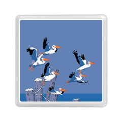 Abstract Pelicans Seascape Tropical Pop Art Memory Card Reader (square)