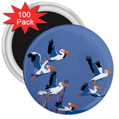 Abstract Pelicans Seascape Tropical Pop Art 3  Magnets (100 Pack) by WaltCurleeArt