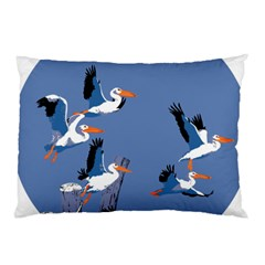 Abstract Pelicans Seascape Tropical Pop Art Pillow Case by WaltCurleeArt
