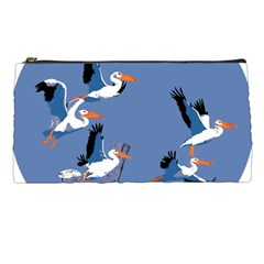 Abstract Pelicans Seascape Tropical Pop Art Pencil Cases by WaltCurleeArt