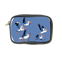 Abstract Pelicans Seascape Tropical Pop Art Coin Purse by WaltCurleeArt