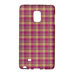 Pink Plaid Pattern Galaxy Note Edge by TastefulDesigns