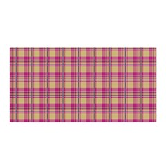 Pink Plaid Pattern Satin Wrap by TastefulDesigns