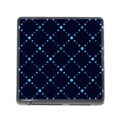 Seamless Geometric Blue Dots Pattern  Memory Card Reader (square) by TastefulDesigns